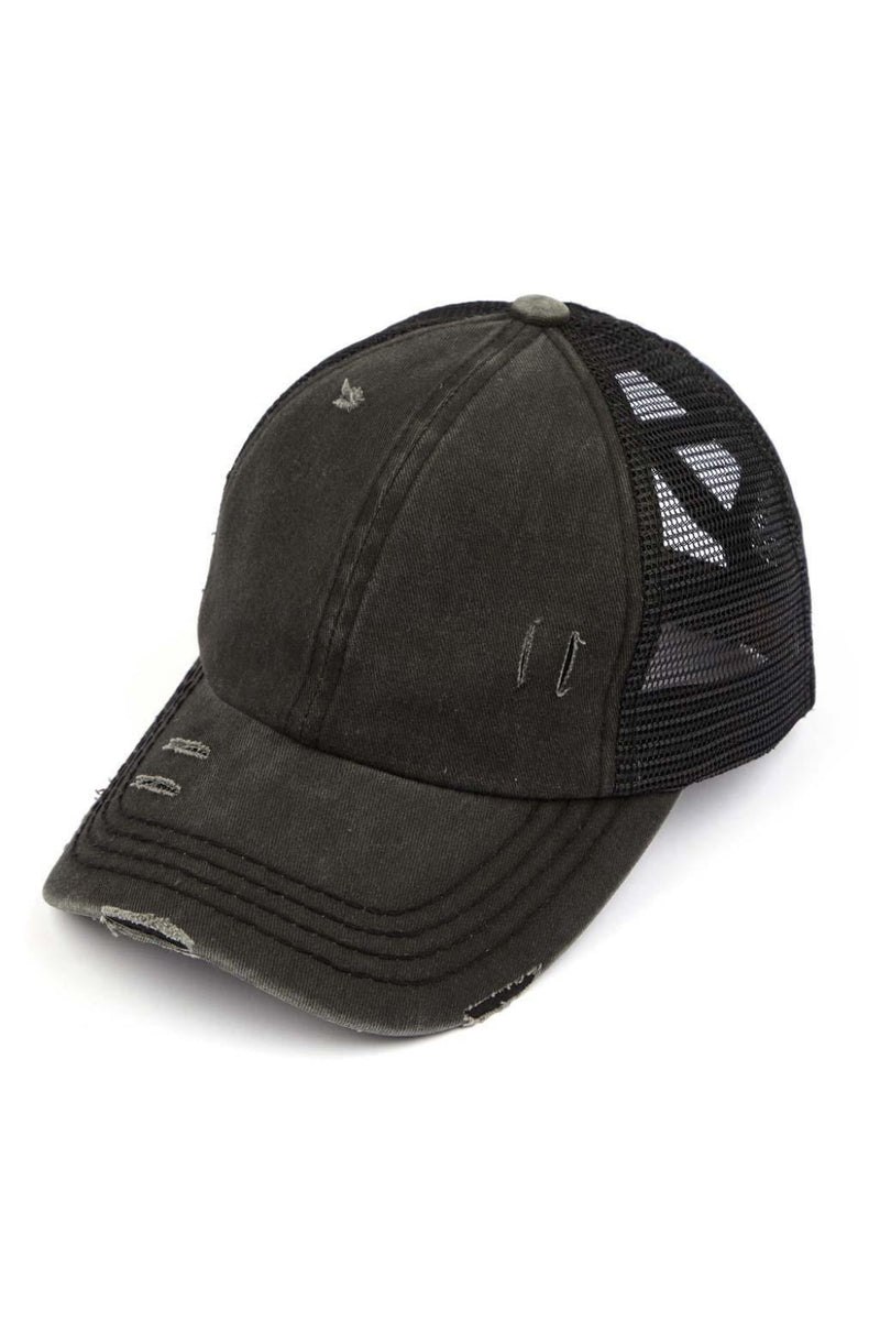 Criss-Cross Pony Tail Baseball Cap