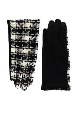 Up-Cycled Chanel Inspired Buffalo Check Gloves - Embellish Your Life