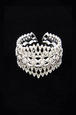 Filigree Queen Crown Ring - Embellish Your Life