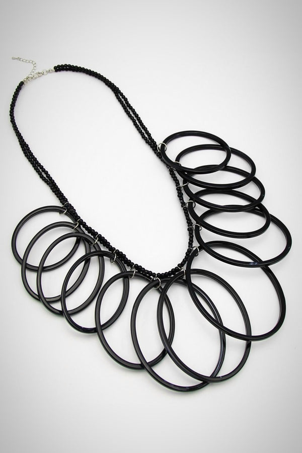 Resin Hoops Necklace