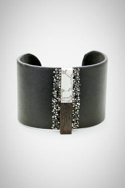 Leather Bar Bracelet