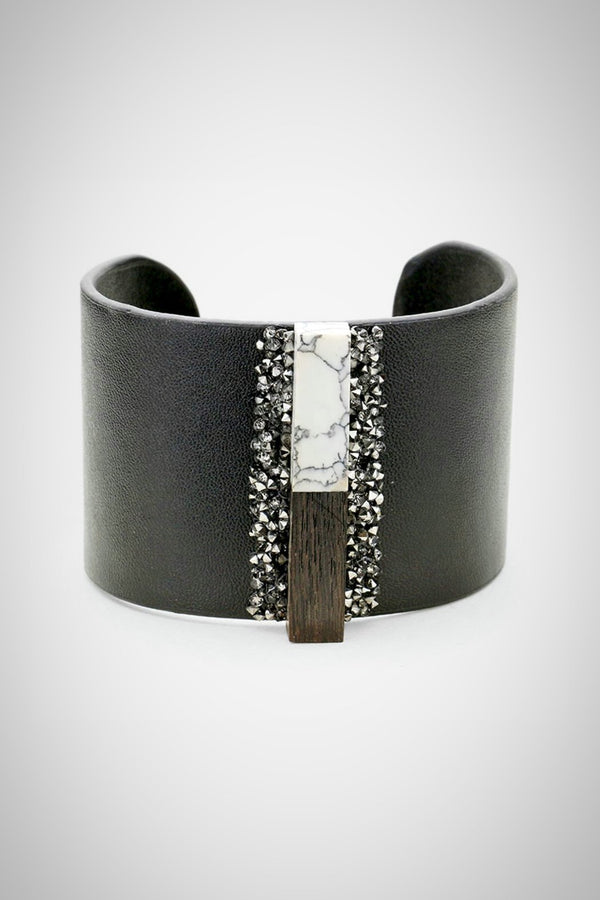Leather Bar Bracelet - Embellish Your Life