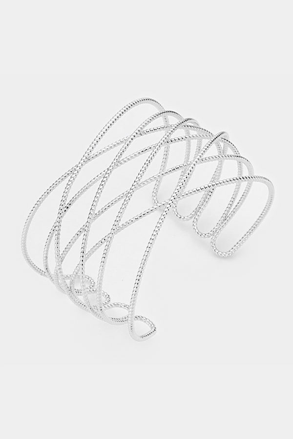 Etched Criss-Cross Bracelet