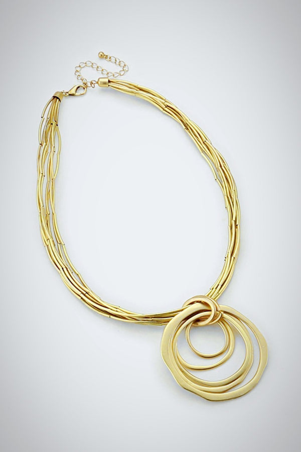 Golden Ring Necklace - Embellish Your Life