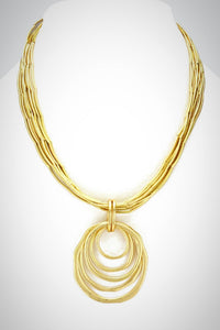 Golden Ring Necklace