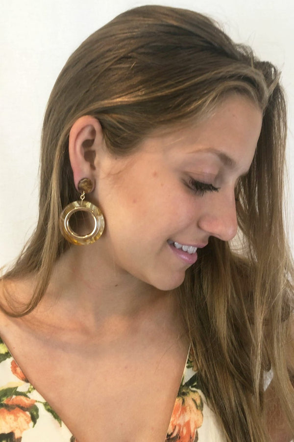 Caramel Ring Earrings - Embellish Your Life