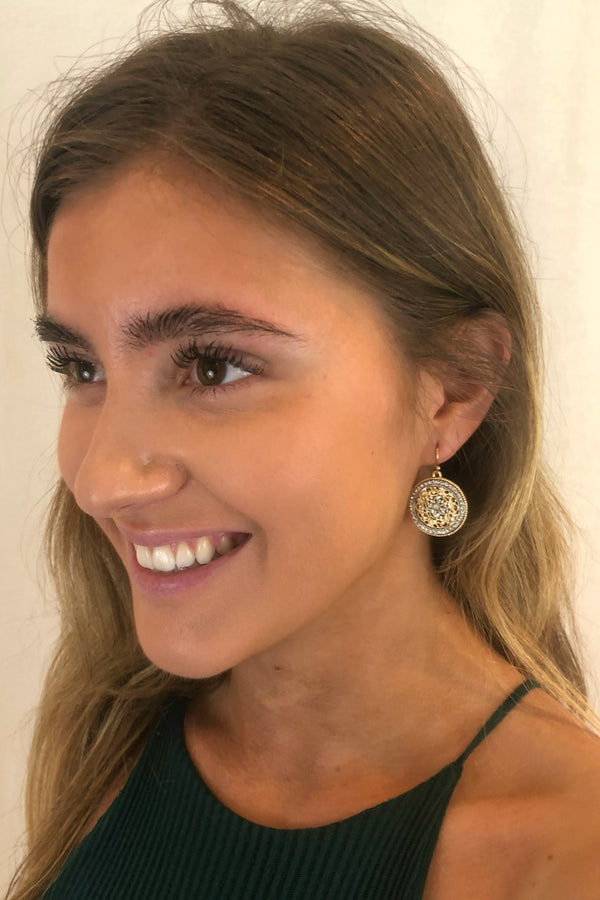 Filigree Clover Round Earrings - Embellish Your Life