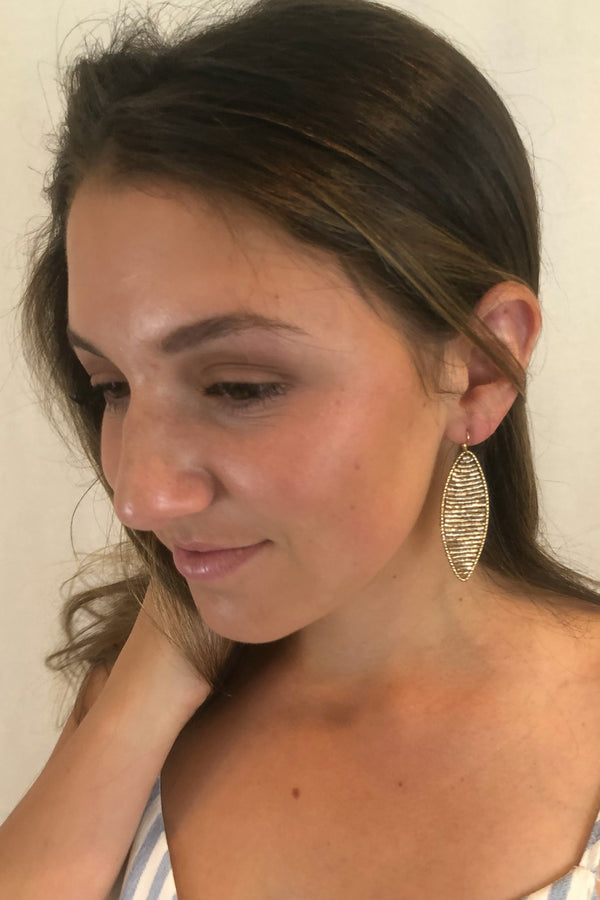 It's A Wrap Gold Earrings - Embellish Your Life
