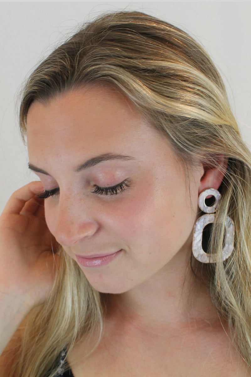 Ohh Ovals Resin Earrings - Embellish Your Life