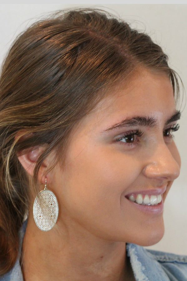 Filigree Fret Earrings - Embellish Your Life
