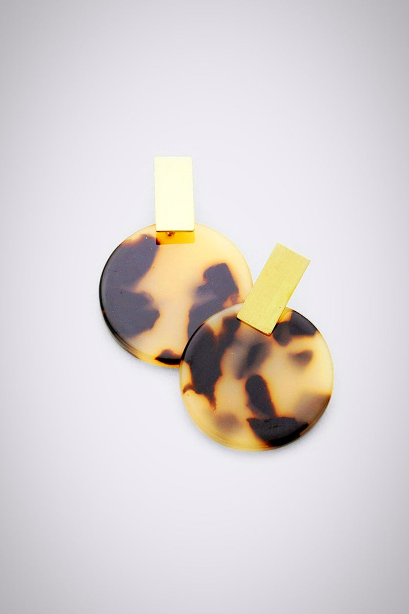 Round It Up Resin Earrings