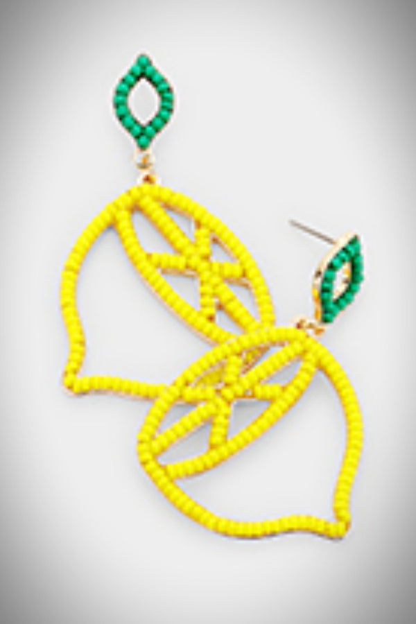 Lemon Bead Earrings