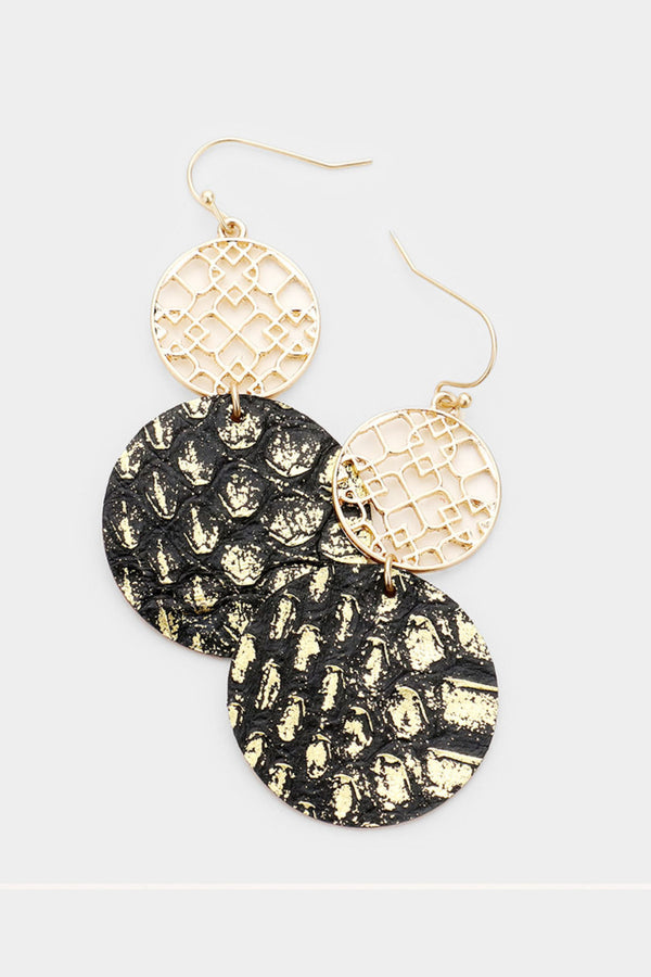 Snake Round Earrings
