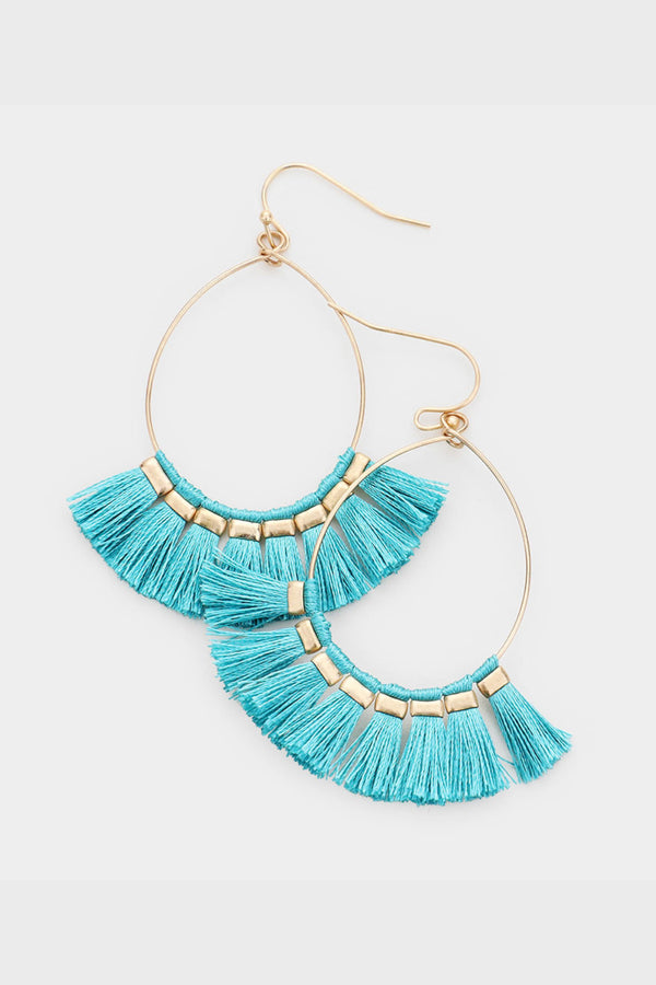 Fan Tassel Earrings
