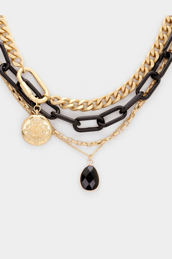 Chain and Crystal Necklace