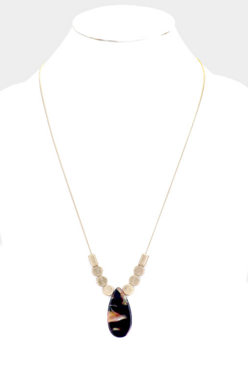 Stone Drop Necklace