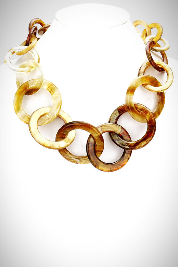 Caramel Links Acrylic Necklace