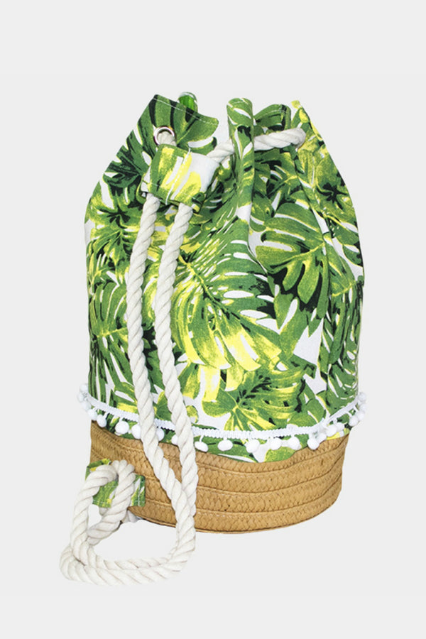 Tropical Leaf Back Pack or Bag