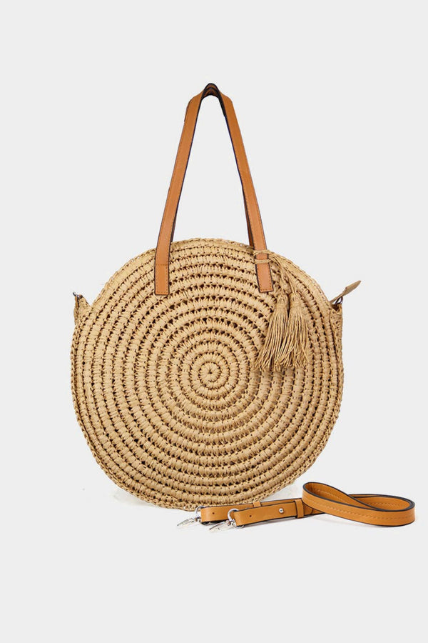 Full Sun Straw Shoulder Bag