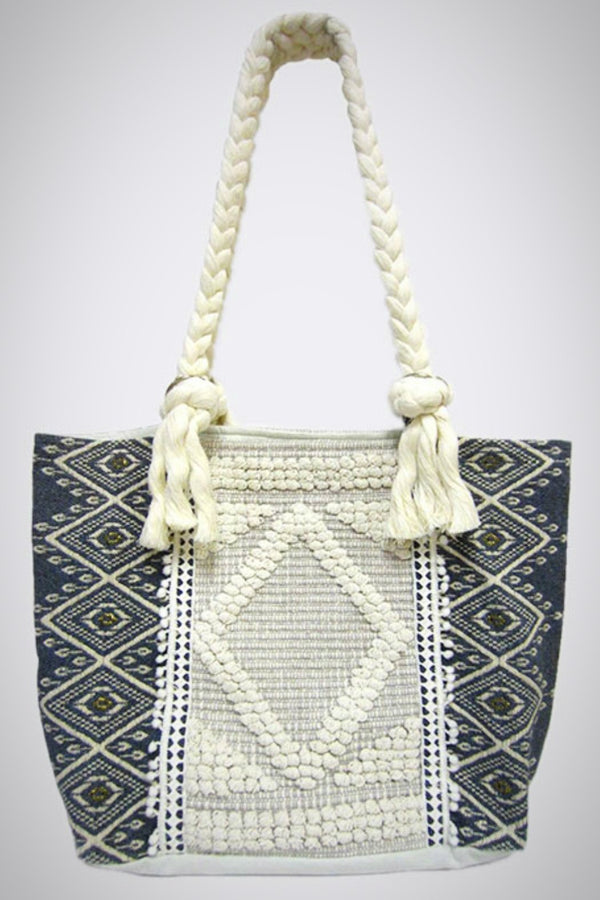 Winter Knit Tapestry Tote Bag