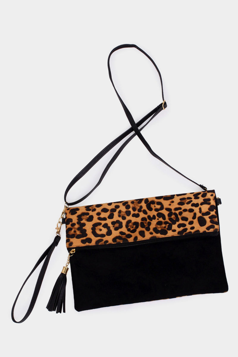 Leopard Fold-Over Bag