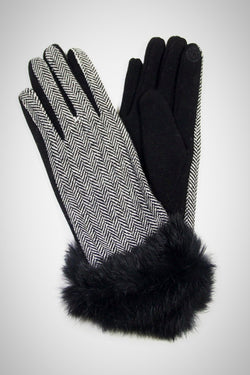 Herringbone Fur Smart Gloves