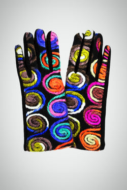 Swirly Rainbow Smart Gloves
