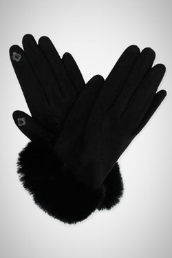 Faux Suede Fur Smart Gloves