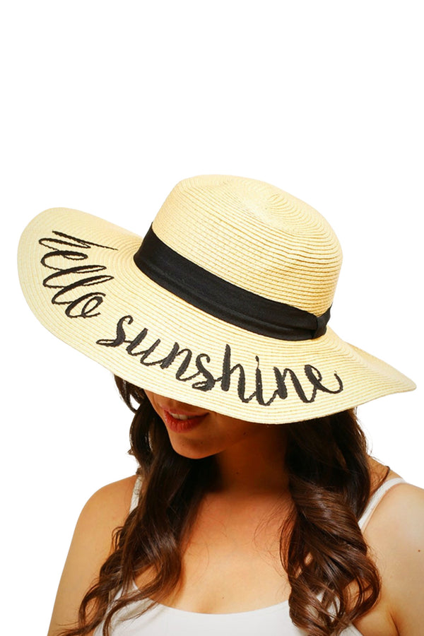 Hello Sunshine Stay-Put Straw Hat