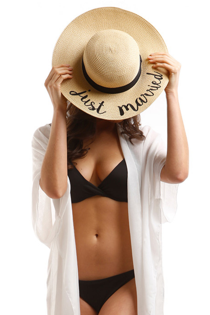 Just Married Stay-Put Straw Hat