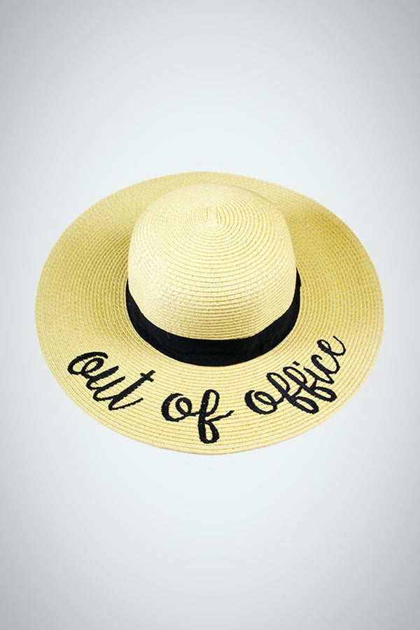 Out Of Office Stay-Put Straw Hat