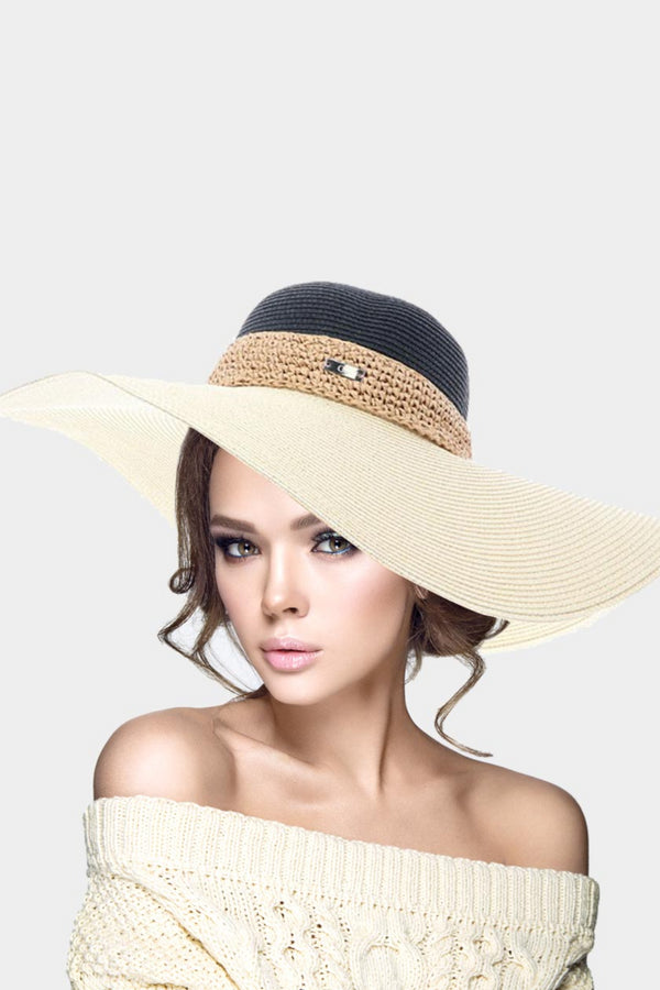 Straw Colorblock Hat