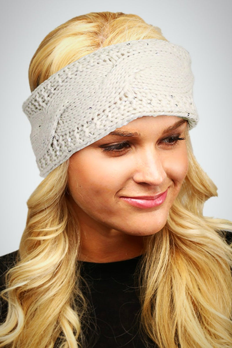 Sequin Knit Head Wrap