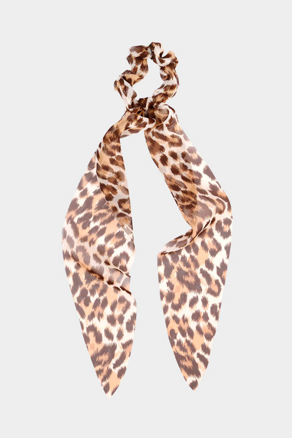 Leopard Brown Scrunchie Scarf