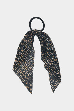 Black Leopard Hair Tie