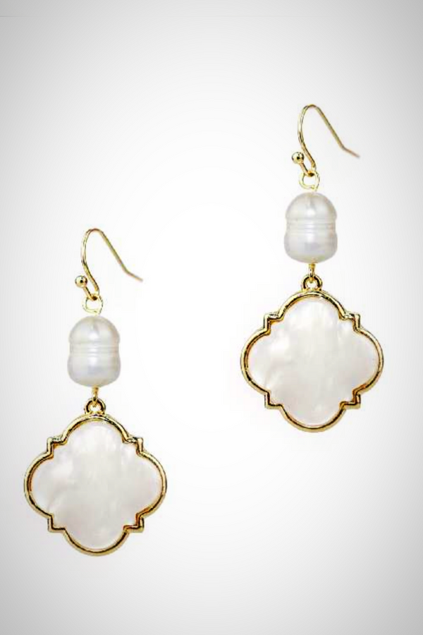 Freshwater Pearl Medallion Earrings