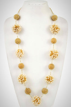 Ivory Beaded Ball Necklace