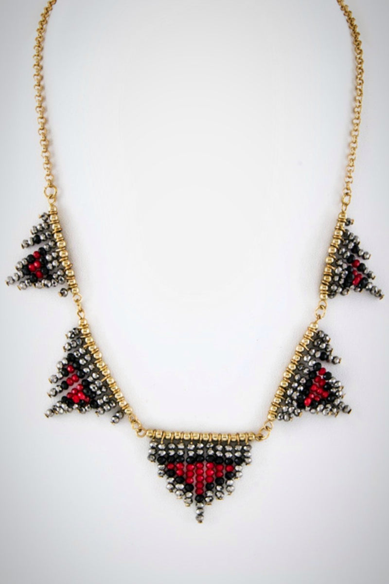 Tribal Glass Necklace - Embellish Your Life