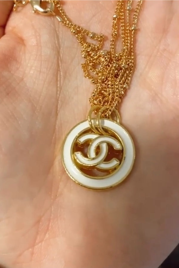 Chanel Up-Cycled Pendant Necklace