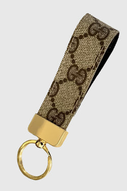 Up-Cycled Small Loop Keychain made of Gucci - Embellish Your Life