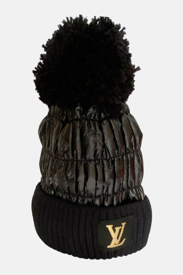 Louis Vuitton Inspired Up-Cycled Gloves and Beanie - Embellish Your Life