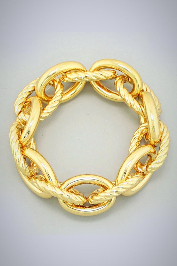 Golden Large Links  Bracelet