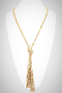 Seed Bead Tassel Necklace - Embellish Your Life