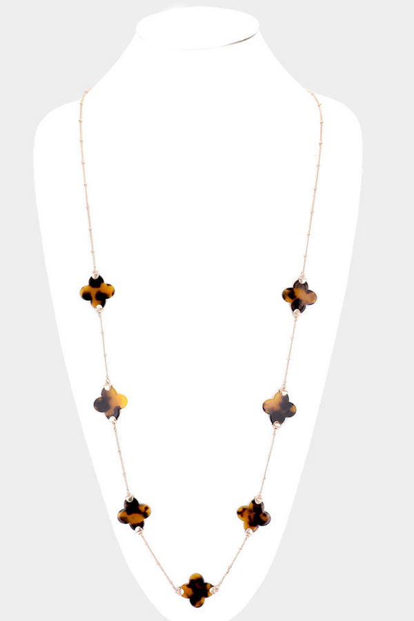 Tortoise Clover Necklace
