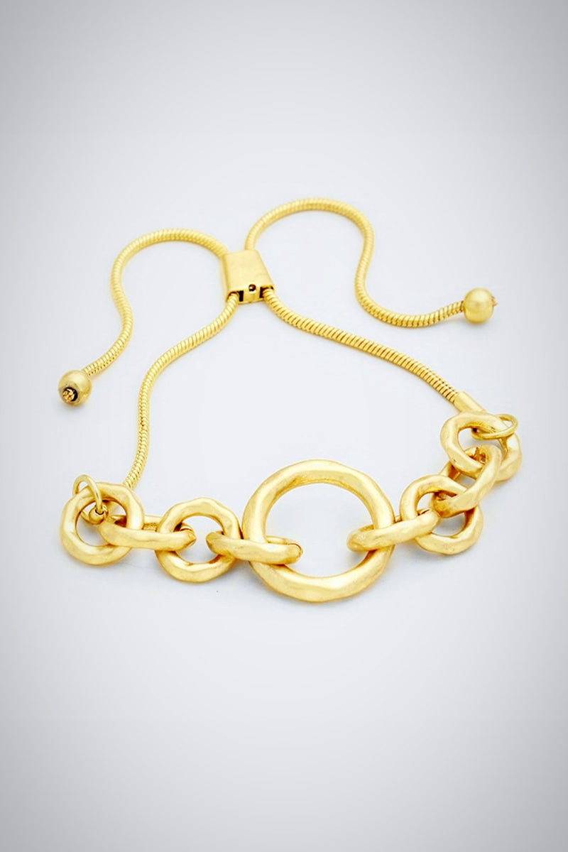 Golden Friendship Link Bracelet
