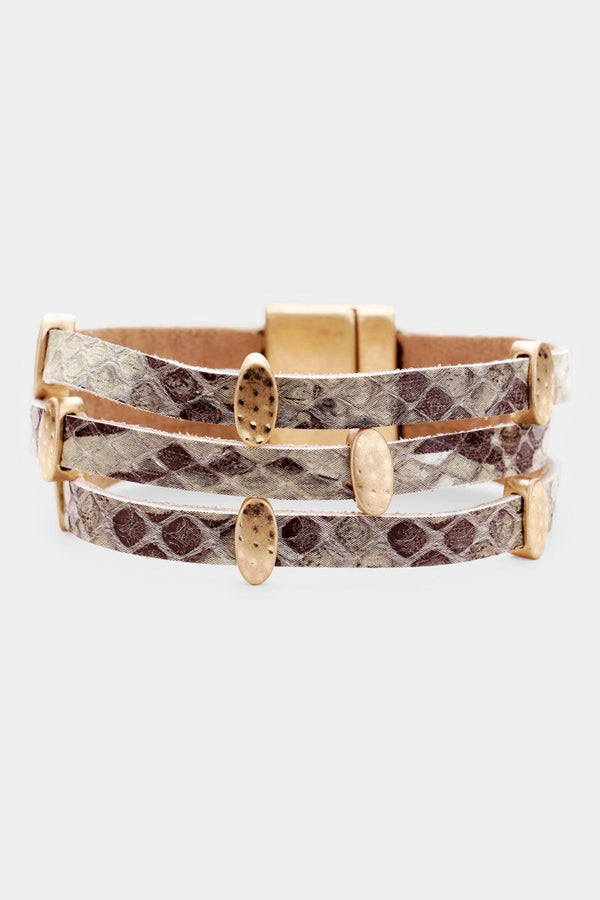 Snake Skin Magnetic Bracelet - Embellish Your Life