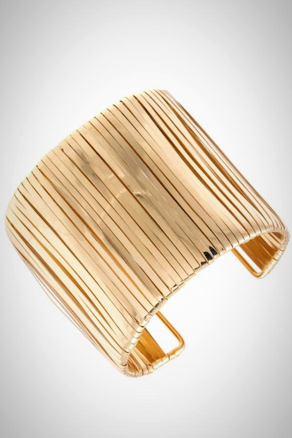 Golden Strands Cuff Bracelet