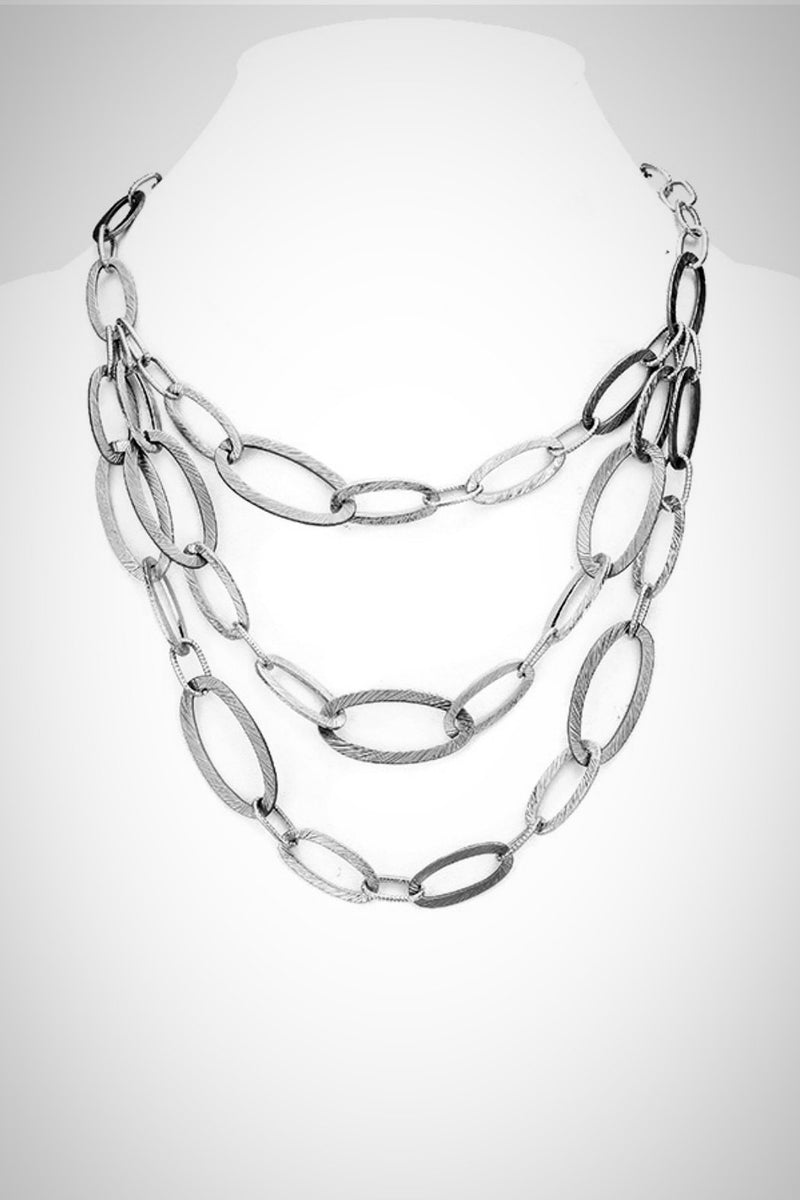 Texture Ovals Necklace
