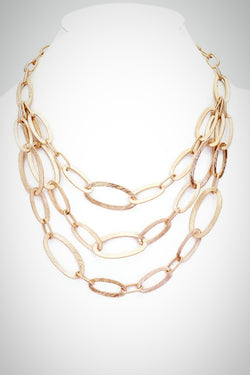Texture Ovals Necklace - Embellish Your Life