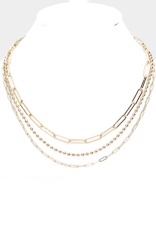 Triple Oval Links Necklace - Embellish Your Life